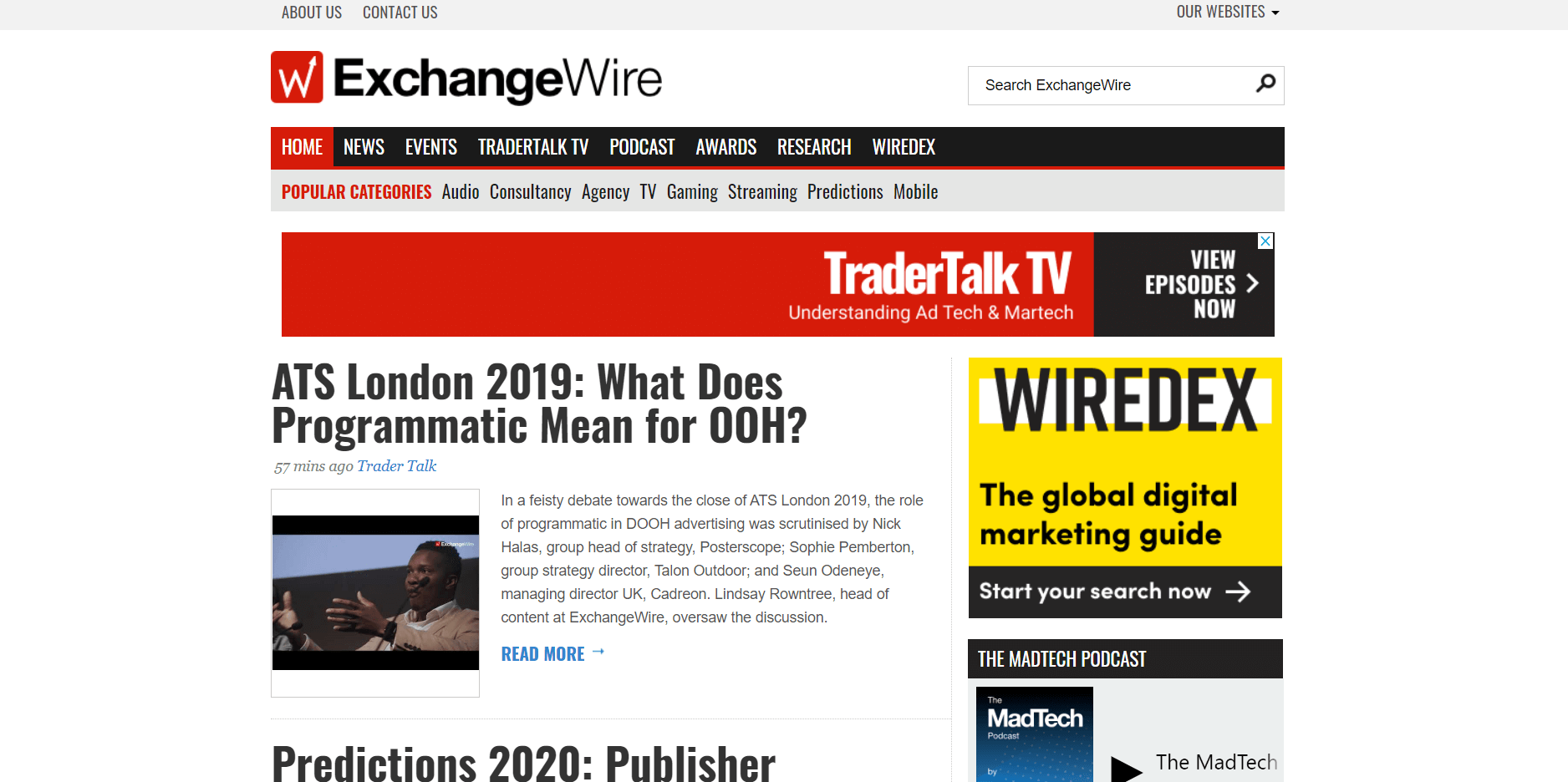 ExchangeWire digital advertising blog