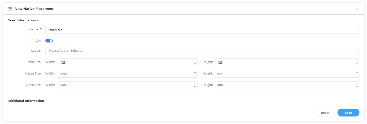 Posizionamento degli annunci nativi dell'ad server Epom