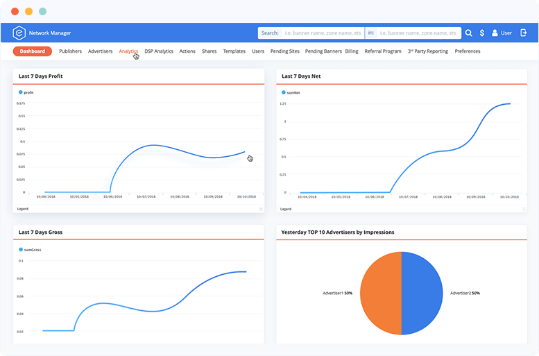 ad server real-time analytics illustration