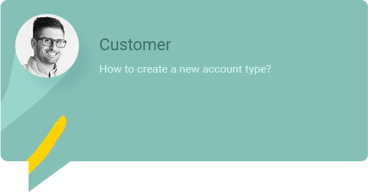 How to create a new account type?